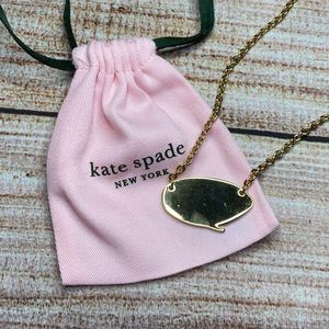 """Kate Spade RARE """"Silent Statement"""" Charm Necklace"""